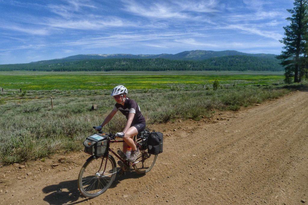 Dirt road cycling