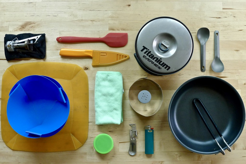 Our expanded cook kit should allow us to prepare more than soup mixes and rehydrated food.
