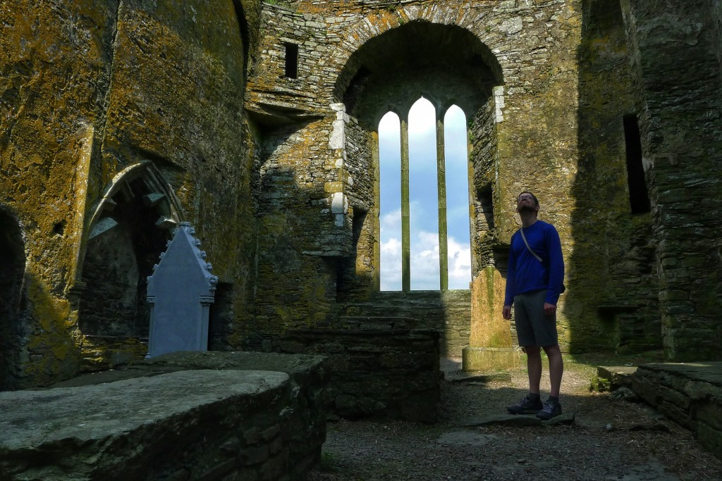 Inside the abbey are the tombstones of locals. The oldest we saw was from the 16 the century.