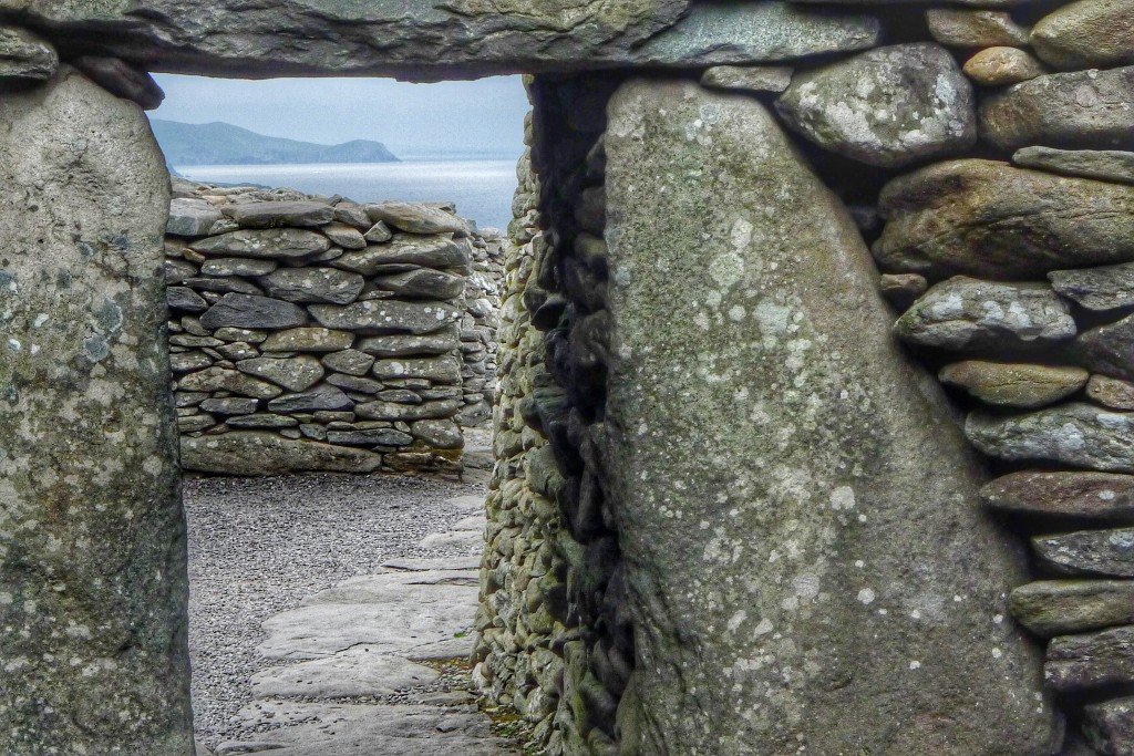 This small doorway looks south to the Iveragh Peninsula.