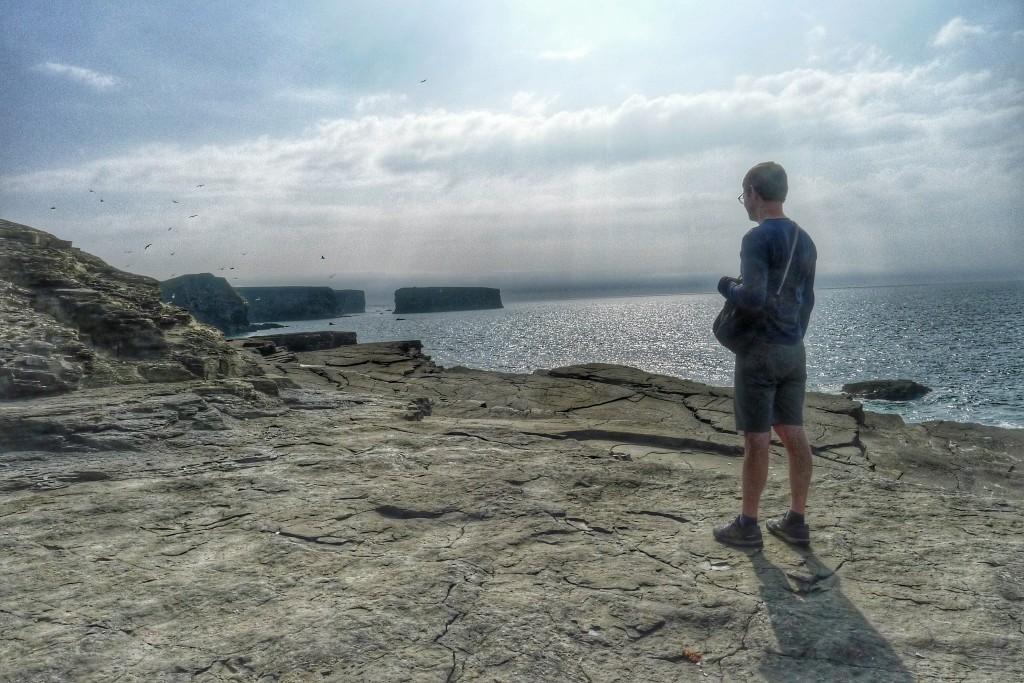 Here I am admiring the Kilkee Cliffs.