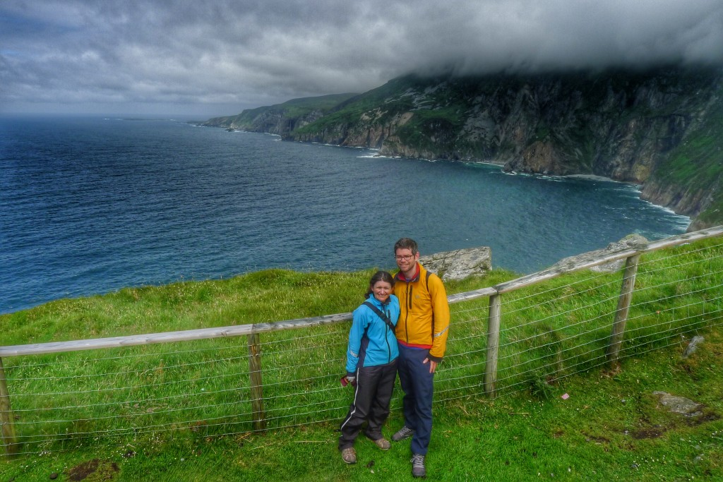 Good weather at the Slieve League Cliffs.