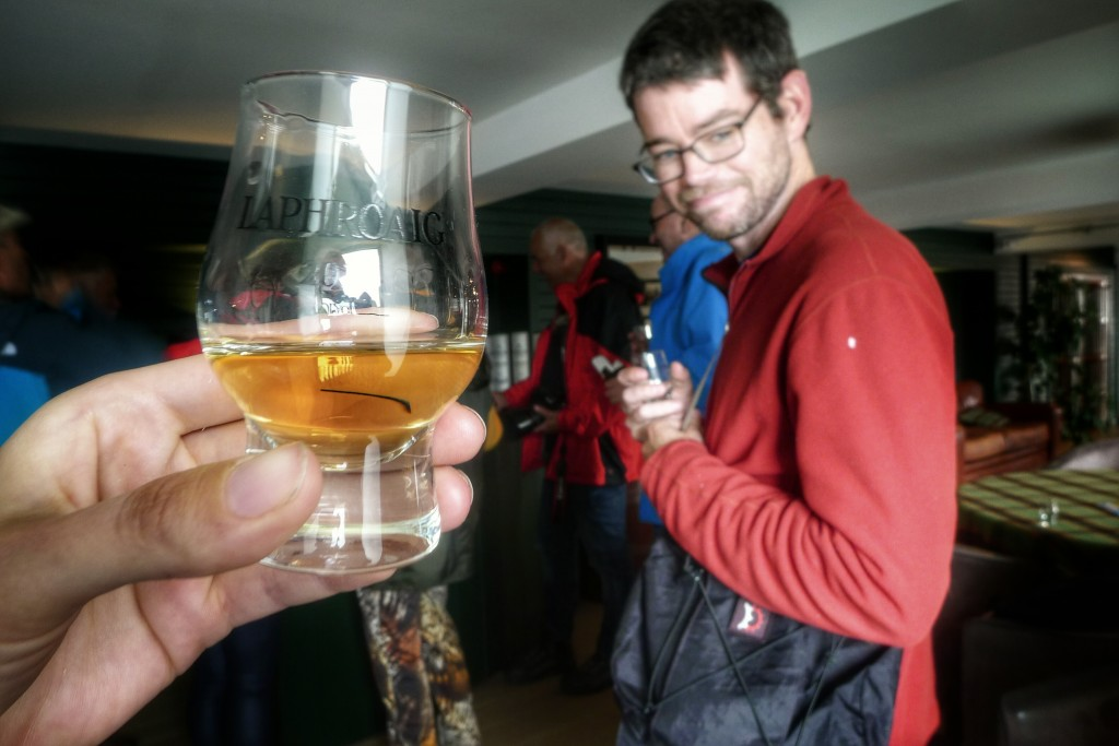 After the Laphroaig tour we got to taste a few different whiskies they make.