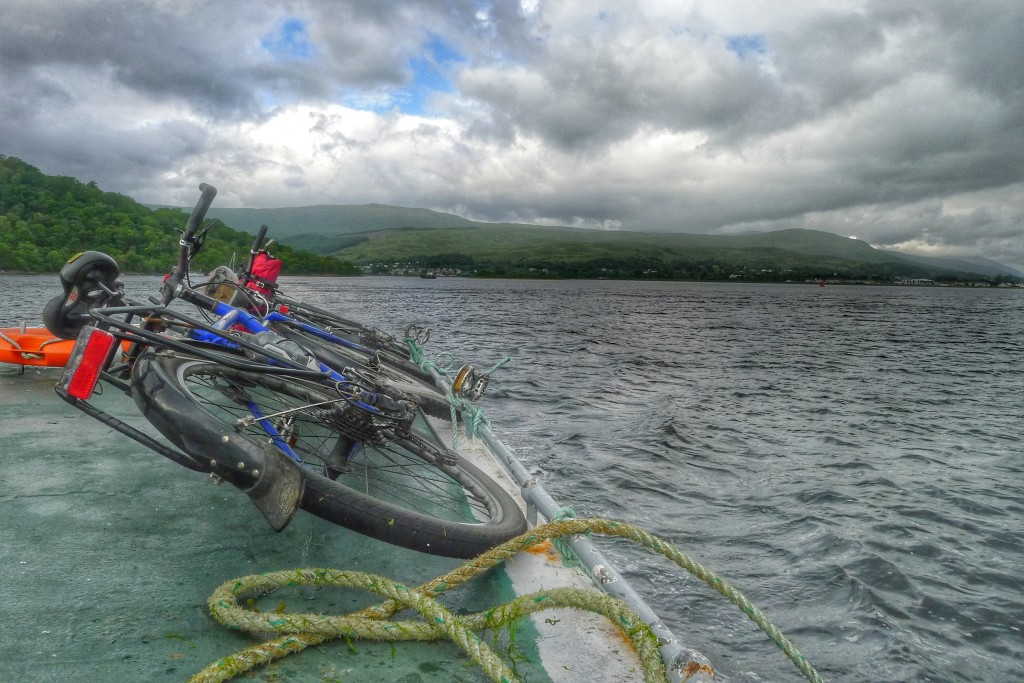 Our bikes and us took another ferry to reach Fort William.