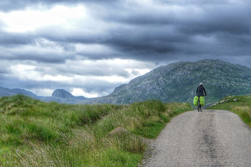 We ride through some of the most remote sections of Scotland.