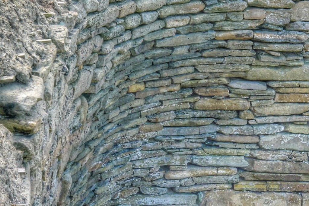 People stacked these stones about 7,000 years ago. The corner of this wall at Skara Brae shows off the level of precision and craftsmanship carried out by these Neolithic people.