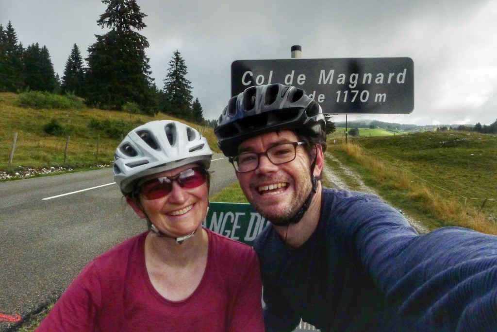 We survived our first col on our way to Geneva.