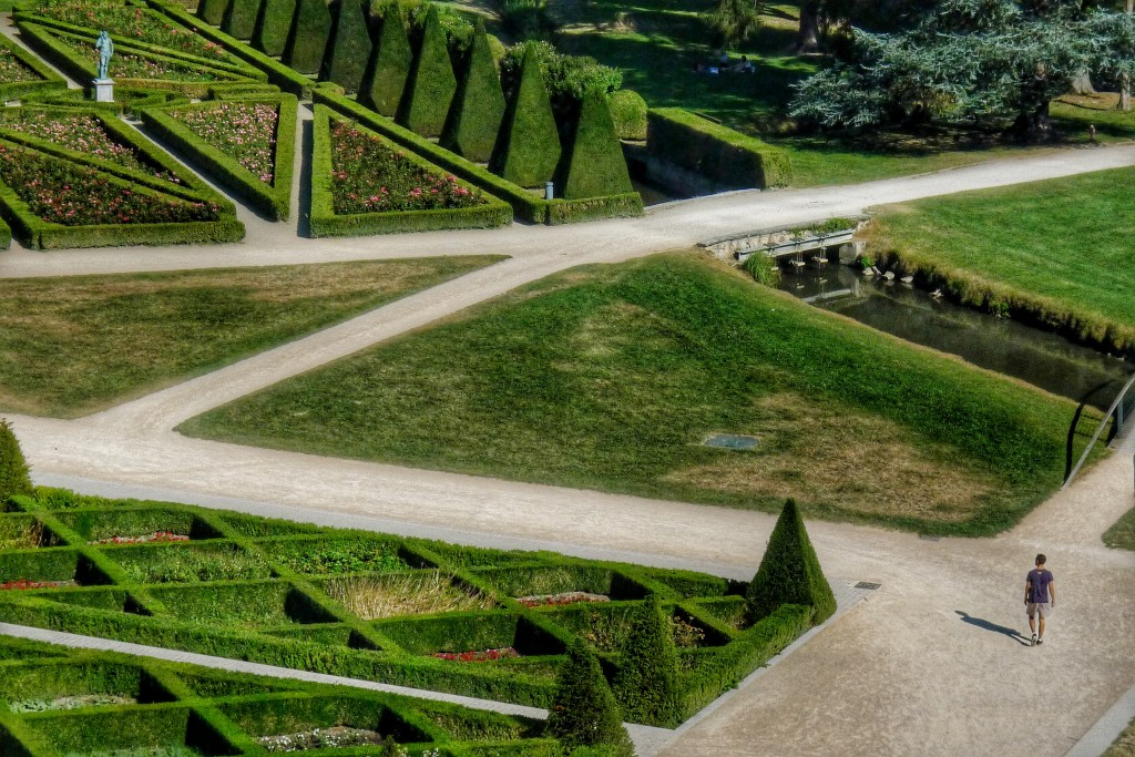 The garden at the château in Vizille had some interesting patterns from above.