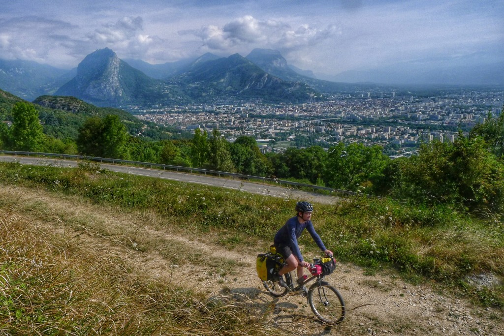Climbing to the Vercors provided a great view of Grenoble.