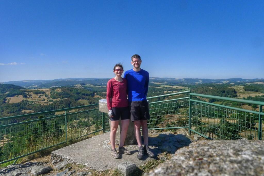 Atop the Roc de Peyre, we had views of the empty Lozère region and beyond.