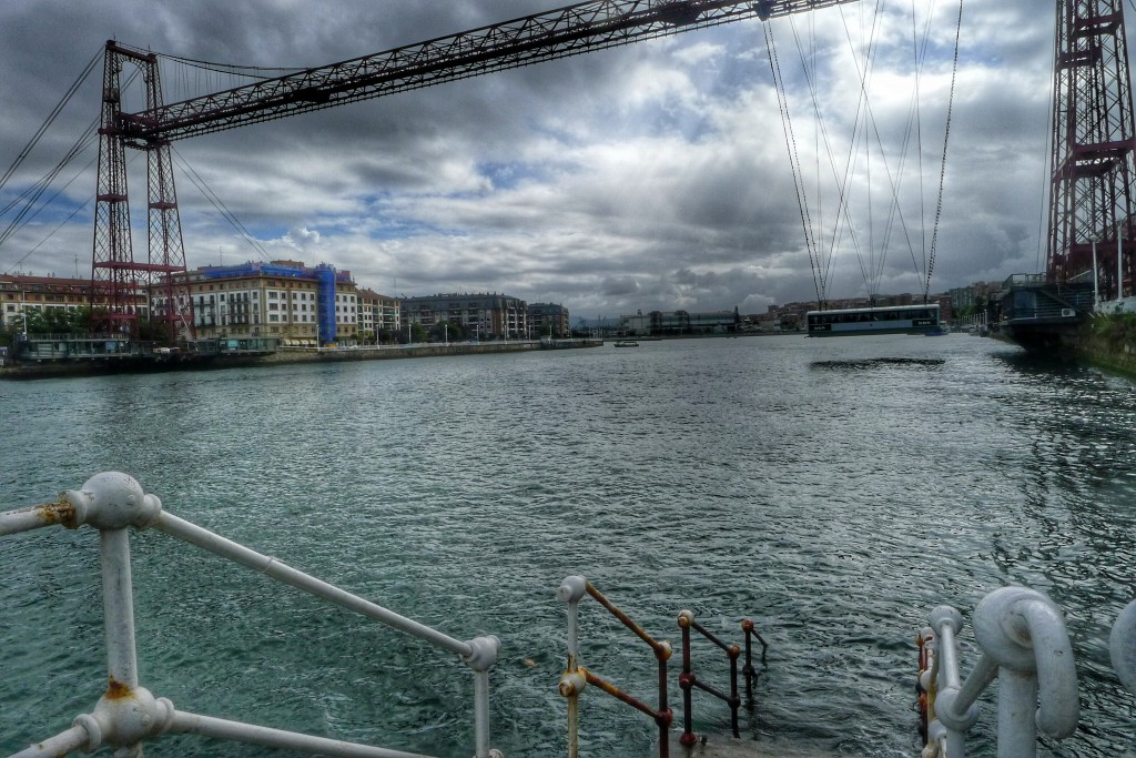 This transporter bridge in Bilbao is one of ten still in use in the world. We ride on one of the others in Wales.