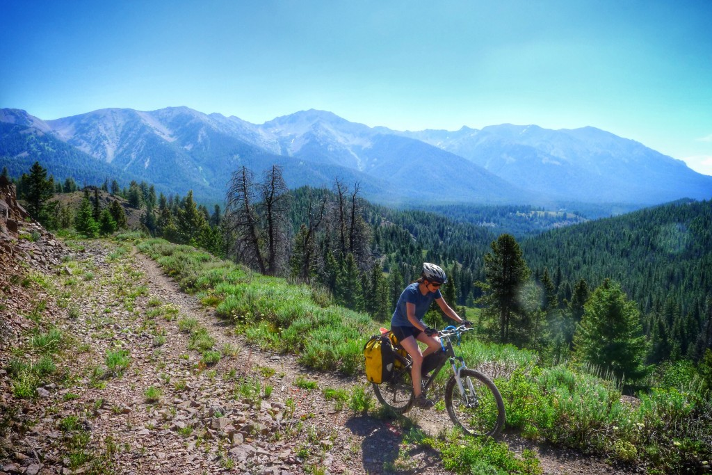 Another shot on the ride up the Galena Pass with the Boulder Mountains as a nice backdrop.