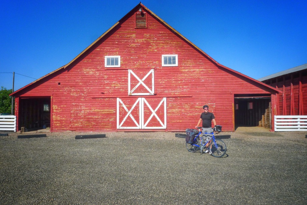 If Peter doesn't watch out this Corvallis barn might eat him.